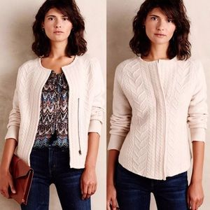 Knitted & Knotted (Anthropologie) zip up cardigan